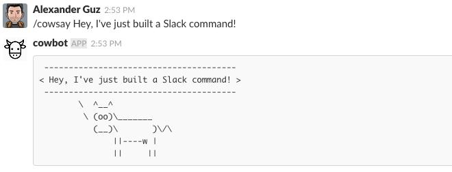 Building a Slack command with Go | Alexander Guz's blog
